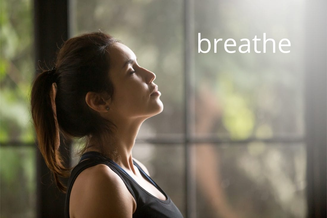 Deep breathing technique for stress management