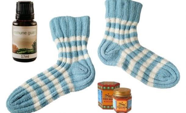 bedtime sock therapy